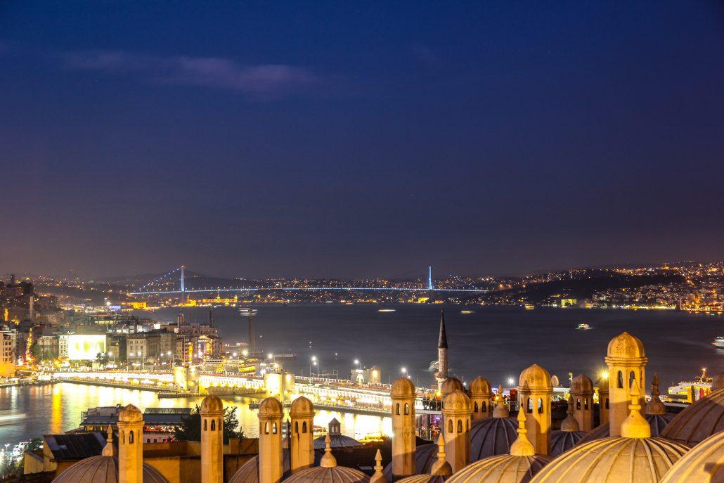 istanbul bogaz manzarasi suleymaniye