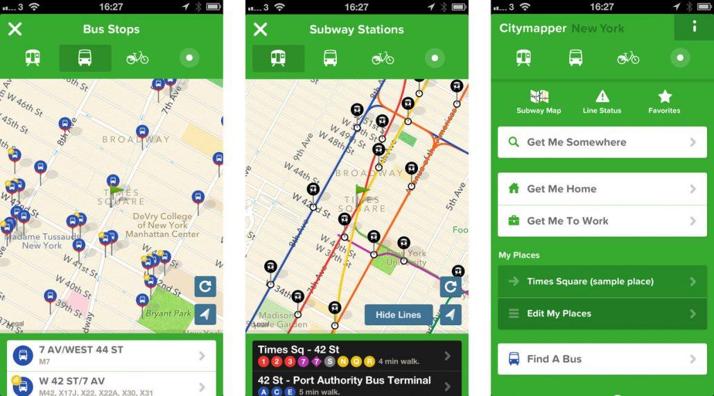 Citymapper - mobil gezi uygulamalari
