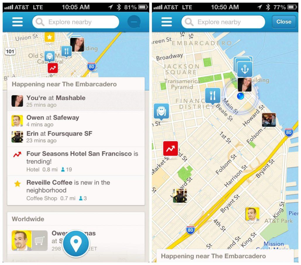 Seyahat sirasinda kullanilan uygulamalar- Foursquare - Trip Advisor