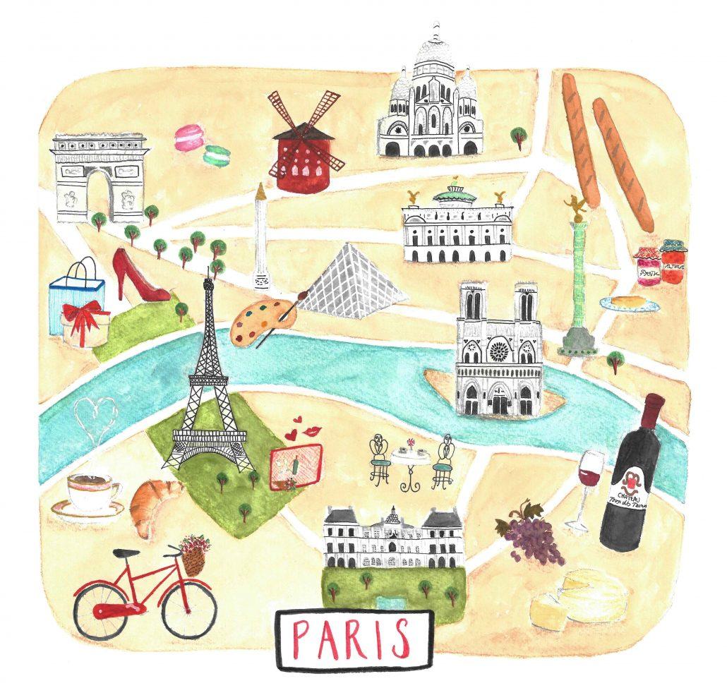 paris'te ne yapilir- harita