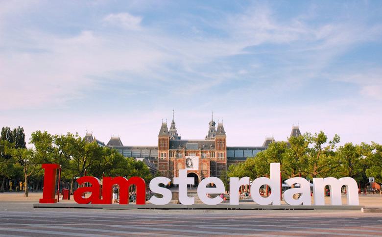 Для открытки, картинки с надписью амстердам