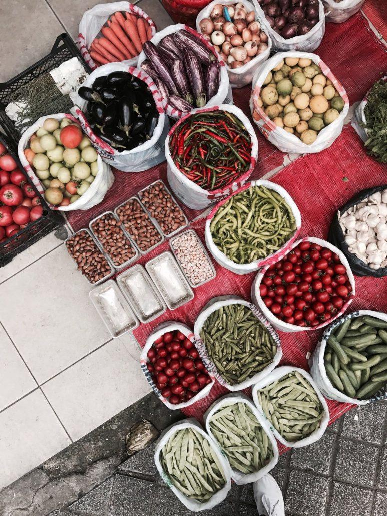 moda caddesi - organik sebze tezgahı