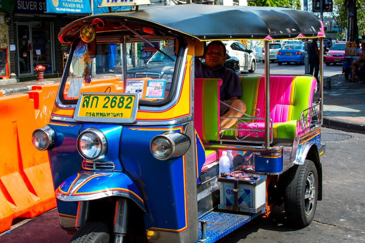 bangkok gezisi tuktuk