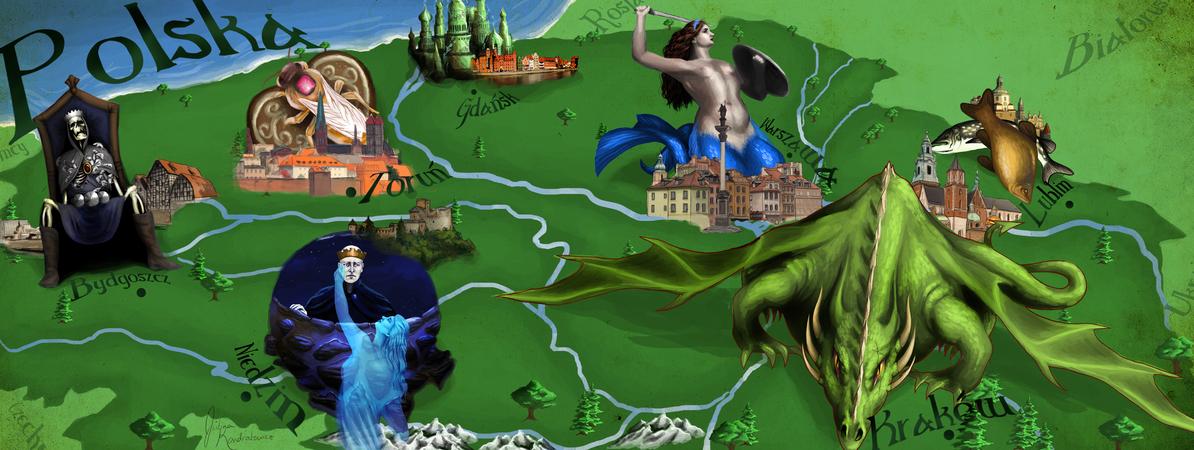 polonya gezi rehberi harita