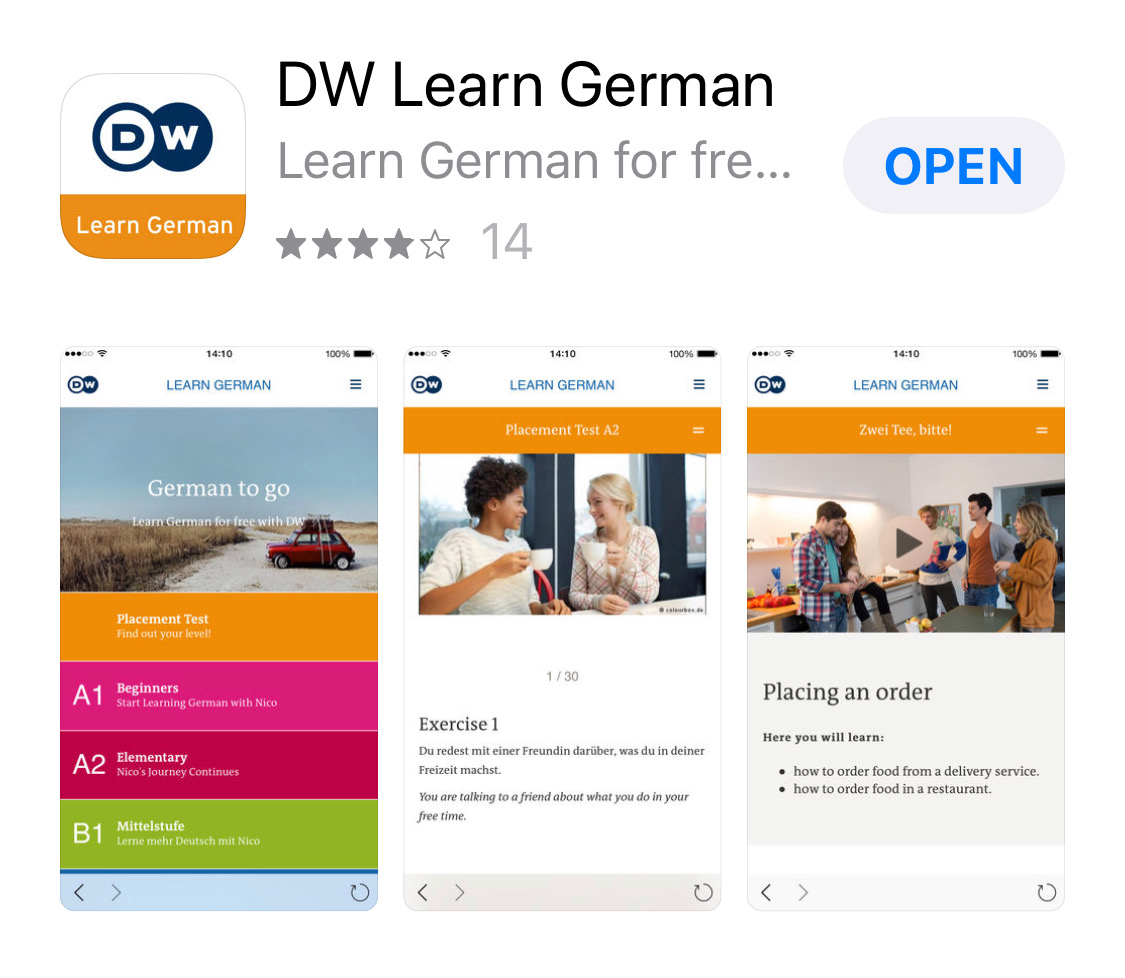 Deutsche Welle Learn-German Uygulaması