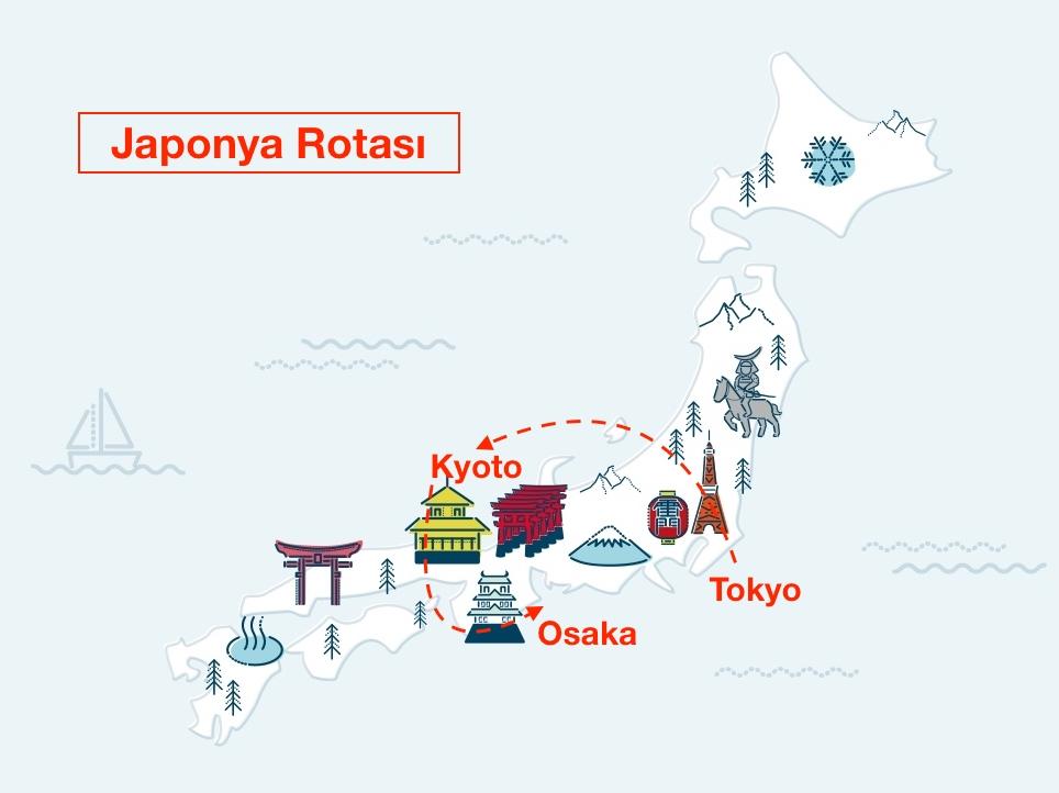 japonya'da gezilecek yerler - izlediğim rota