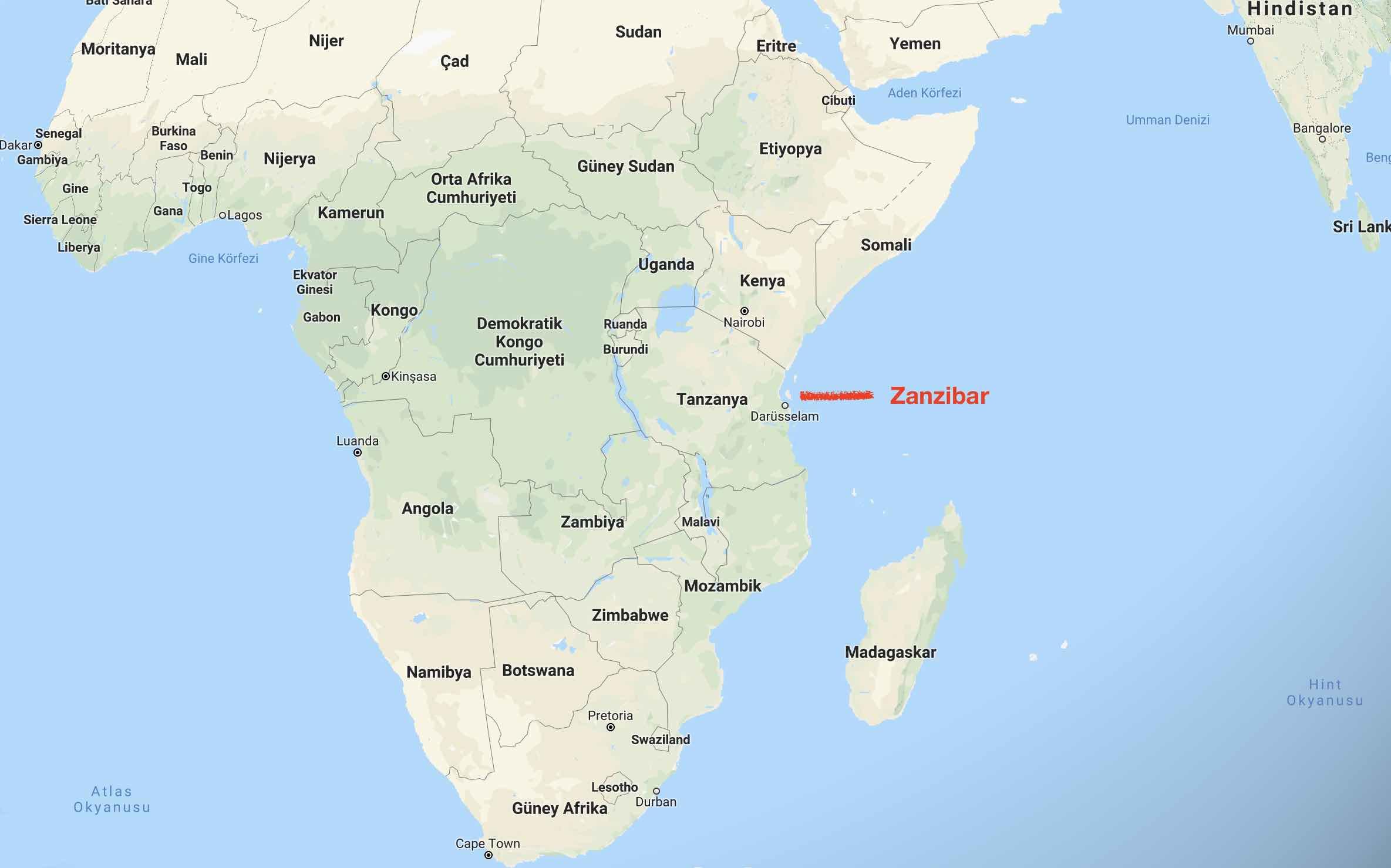 zanzibar nerede? Zanzibar gezi notları