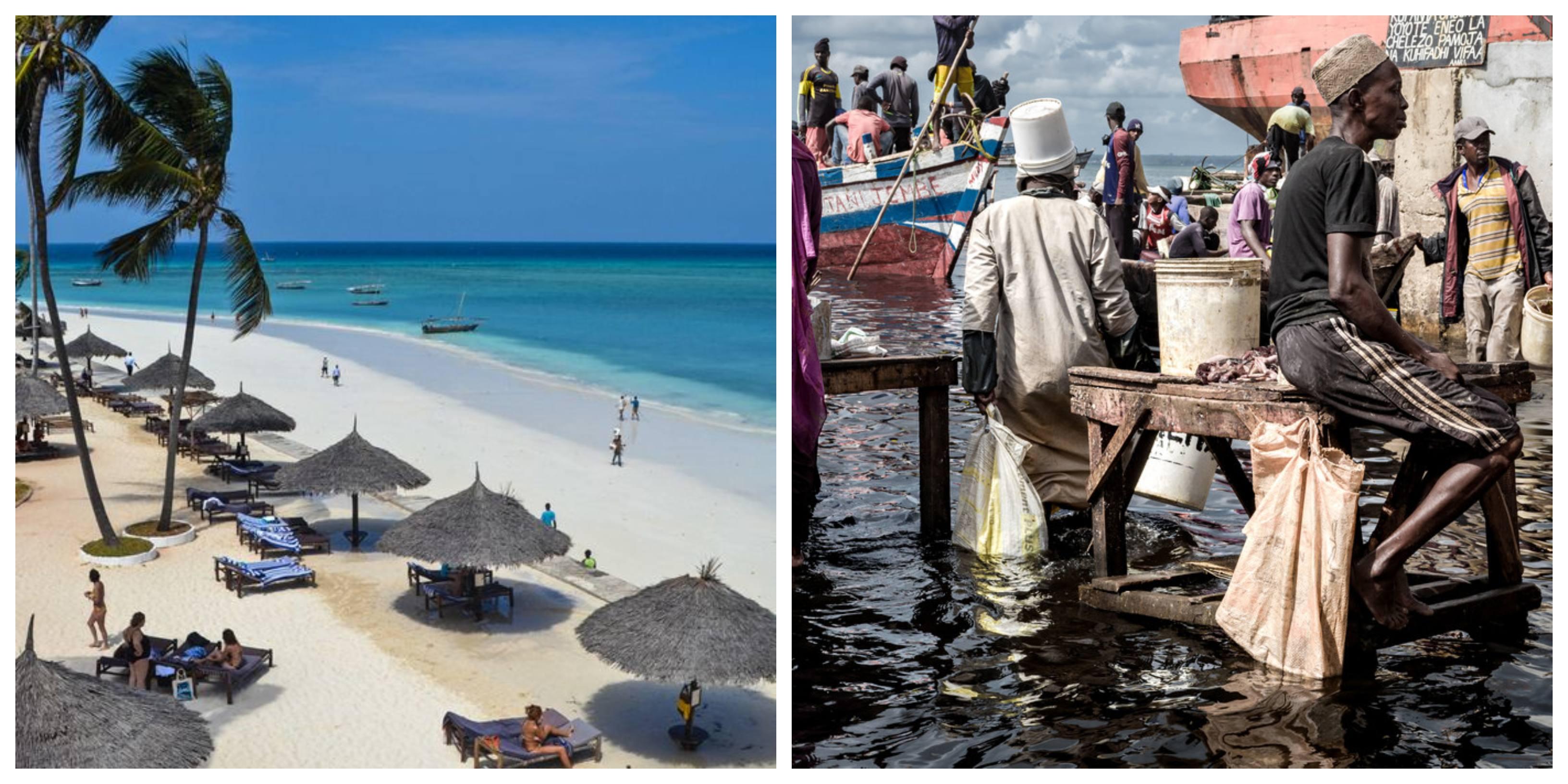 Zanzibar'ın iki farklı yüzü - cennet plajlar ve yoksul halk