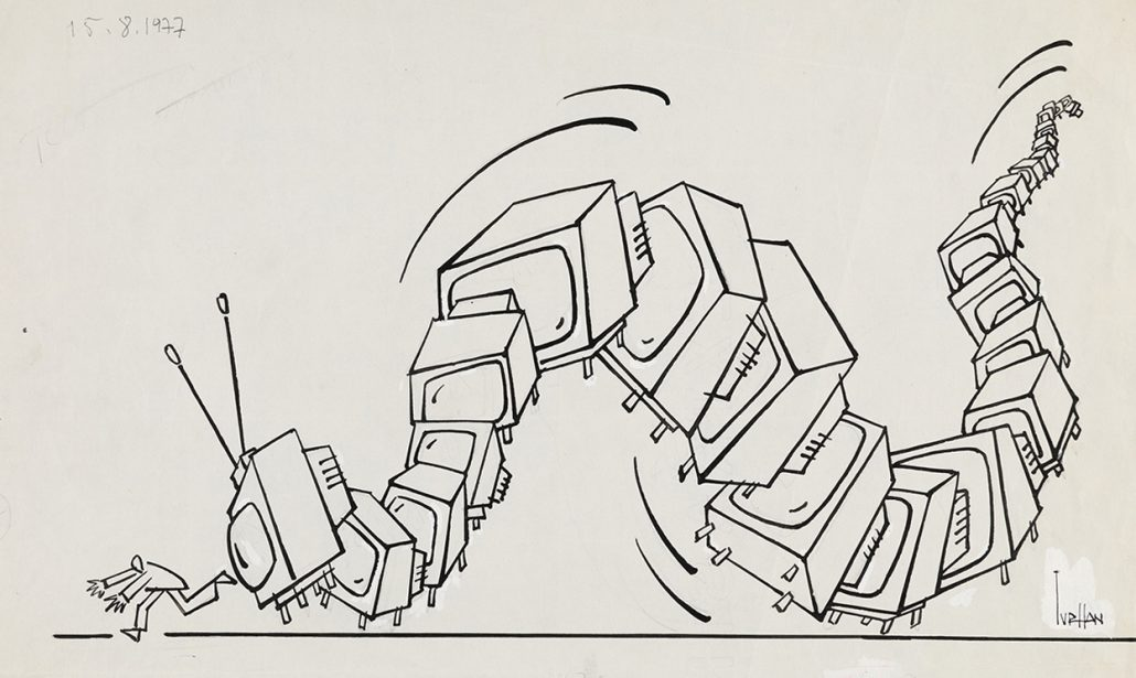 turhan selçuk'un sevdiğimiz bir çizimi