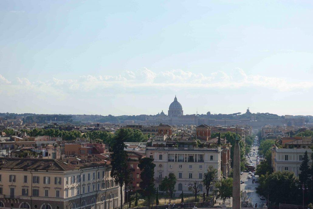 Terrazza del Pincio'dan Roma Manzarası