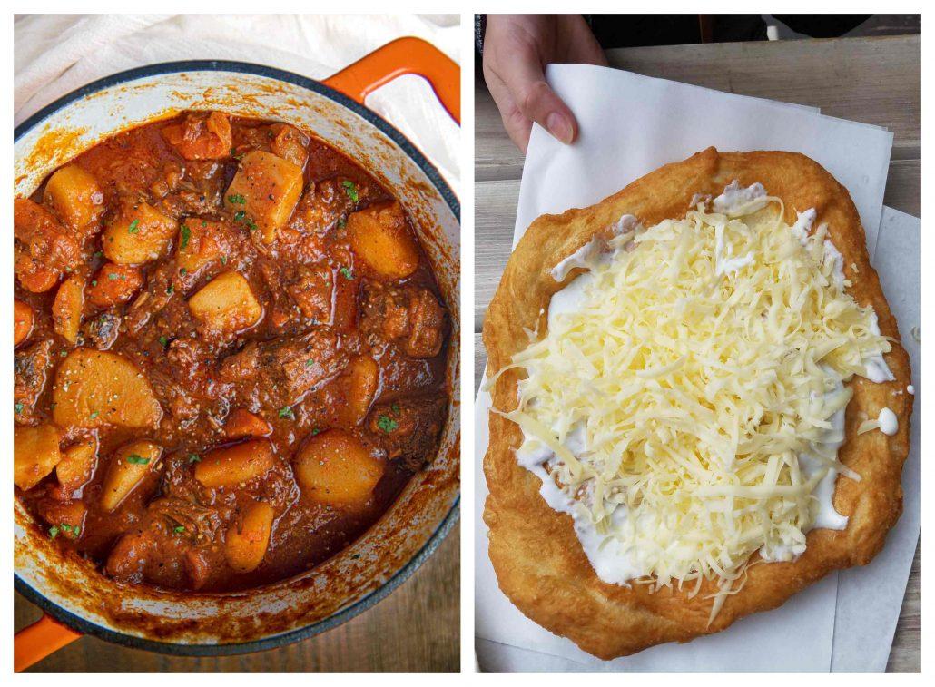 Macar mutfağı -gulaş ve langos