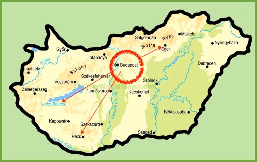 macaristan gezi rehberi - harita