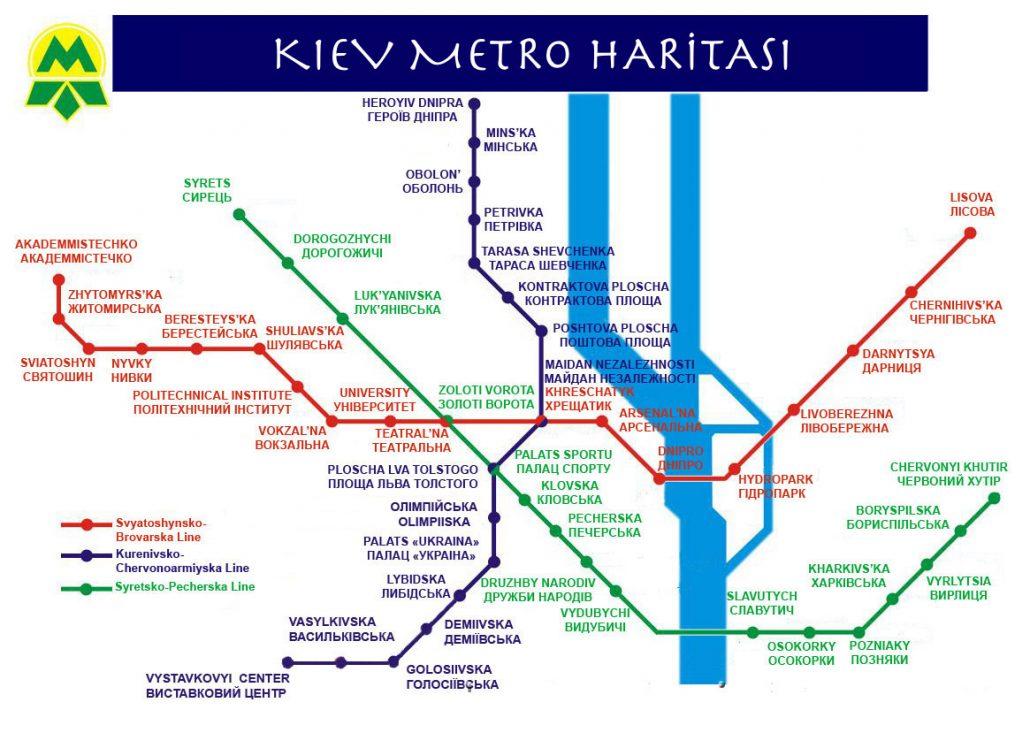 kiev ulaşım rehberi - metro