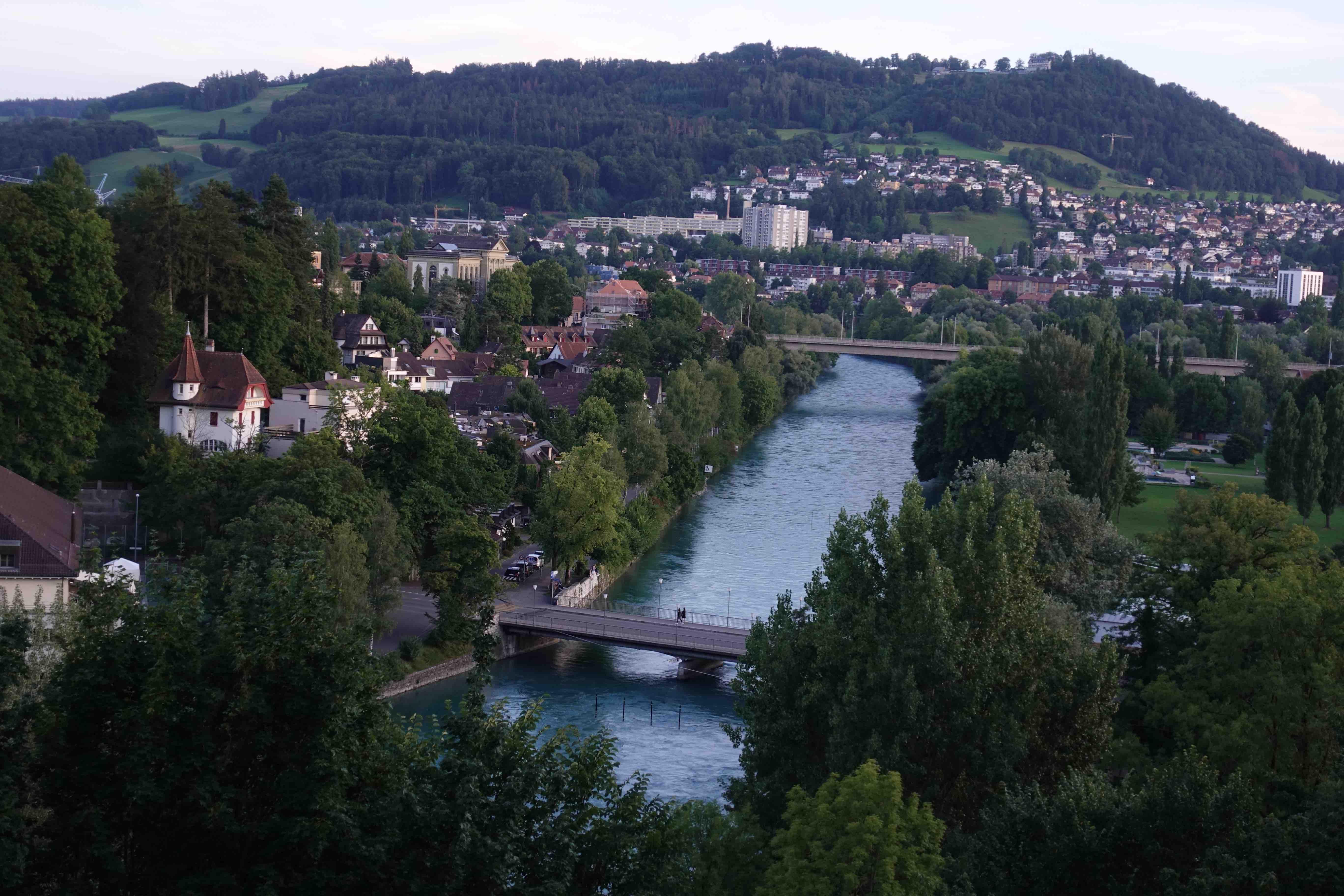 Bern'de günbatımı