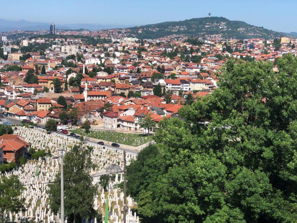 saraybosna manzarası - bosna hersek gezi rehberi